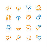 contour love icons poster