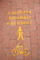 caution shared pathway