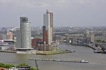 view on rotterdam with the river maas