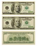 banknote 100 dollars poster