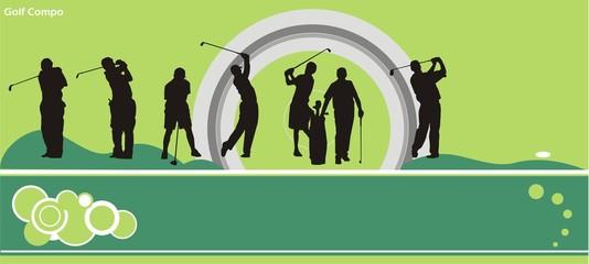 composicion de golf