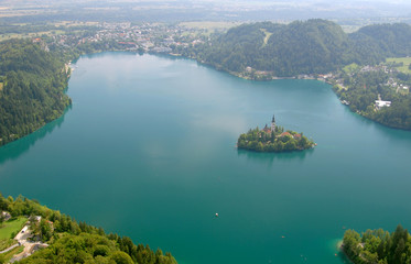Lake Bled from the air