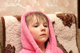 girl in dressing gown poster