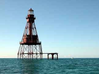 lighthouse on shoals of key west florida