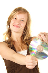 mädchen und cd