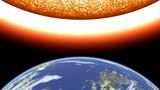 earth versus sun poster