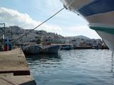 bâteau et port de pêche en grèce poster