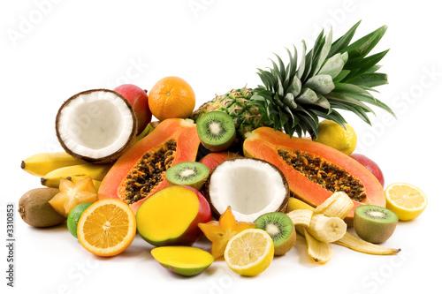 Fotobehang Vruchten tropical fruits