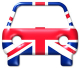 auto uk car united kingdom poster