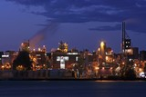 oil refinery by twilight in amsterdam poster