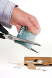 destroying credit cards poster