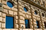 facade of building of alhambra, granada poster