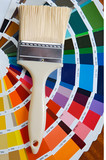 paintbrush with card of colors poster
