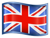 united kingdom flag icon. (with clipping path) poster