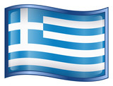 greece flag icon. (with clipping path) poster