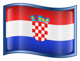 croatia flag icon. (with clipping path) poster
