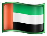 united arab emirates flag icon. poster