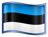 estonia flag icon. (with clipping path) poster