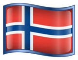 norway flag icon. (with clipping path) poster