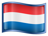netherlands flag icon. (with clipping path) poster