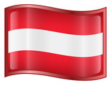 austria flag icon. (with clipping path) poster