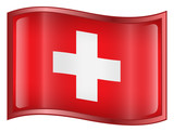 switzerland flag icon. (with clipping path) poster