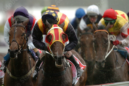 Foto op Canvas Paardensport horse racing winning 02