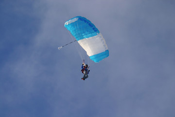 skydiver with canopy