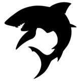 Shark silhouette poster