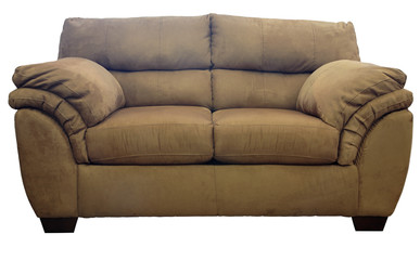 overstuffed  loveseat