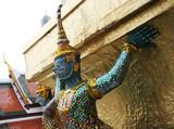 statues at the grand palace, bangkok, thailand. poster