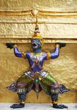 statue at the grand palace, bangkok, thailand. poster