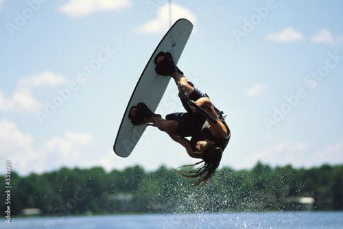 Papiers peints Nautique motorise wakeboarder