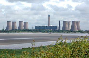 powerstation and riverbank