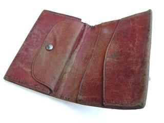 1235 - portefeuille cuir rouge (détourage inclus)