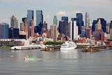 Cruise ship visiting Manhattan port.