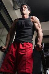 man exercising arm muscles 5