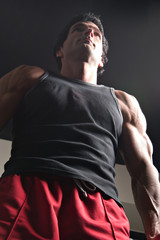 man exercising arm muscles 6