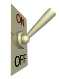 the electric switch on a white background. 3d image. poster