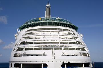 close-up of luxury cruise line ship