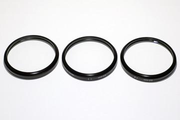 three close-up macro filters