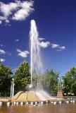 fountain in marianske lazne poster