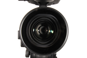A front shot of a HDV video camcorder