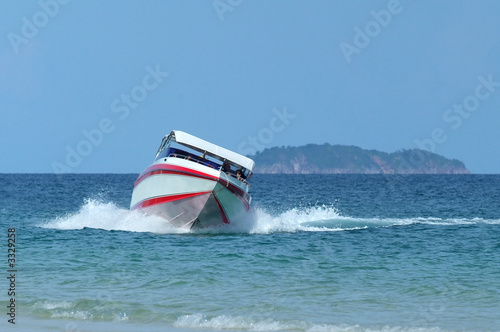 speedboat at sea
