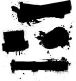 four ink splat poster