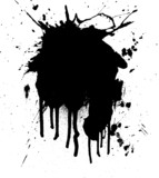 ink splat poster