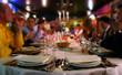 Leinwandbild Motiv happy people in a restaurant!
