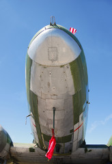 front view of vintage airplane