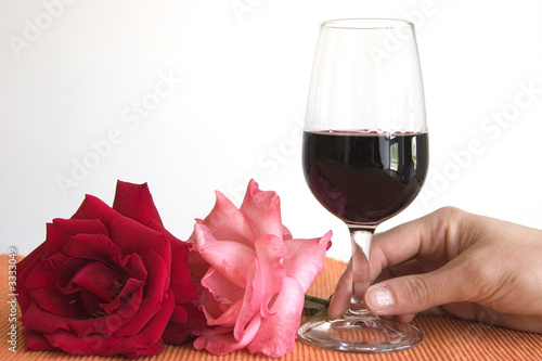 wine and flower