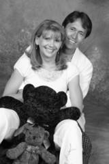 fun couple black & white